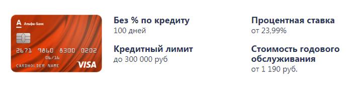 100 дней без процентов условия и тарифы